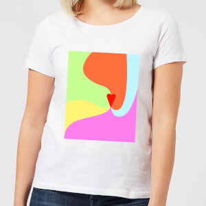 Rainbow Love Swirl Women's T-Shirt - White