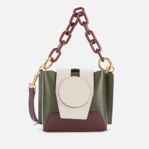 Yuzefi Women's Daria Colour Block Shoulder Bag - Birch/Cream