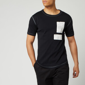 Helmut Lang Men's Patch Logo Base Layer T-Shirt - Basalt Black