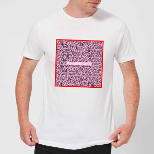 Ich Liebe Dich Word Search Herren T-Shirt - Weiss