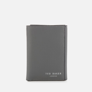 Ted Baker Men's Gonnor Printed Leather Trifold Wallet - Charcoal