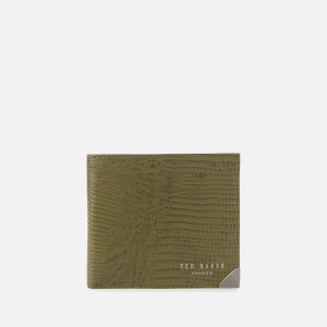 Ted Baker Men's Thinliz Exotic Print Coin Wallet - Olive