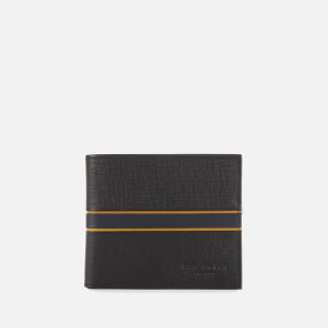 Ted Baker Men's Trave Striped Leather Bifold Wallet - Black