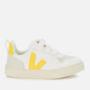 Veja Toddler's V10 Velcro Leather Trainers - White Tonic