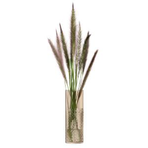 LSA Wicker Vase - Taupe 20cm