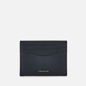 Coach Men's Pebble Leather Card Case - Midnight