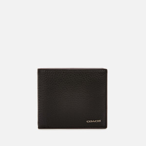 Coach Men's Pebble Leather Coin Wallet - Black