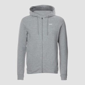 MP Form Zip Up Hoodie - Grey Marl