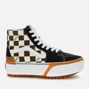 Vans Women's Sk8-Hi Stacked Checkerboard Hi-Top Trainers - Multi/True White