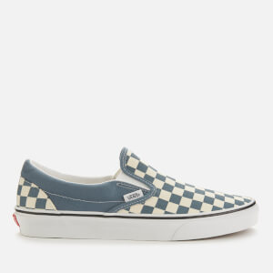 Vans Men's Checkerboard Classic/Slip-On Trainers - Blue Mirage/True White