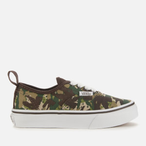 Vans Kid's Animal Camo Authentic Elastic Lace Trainers - Brown/True White