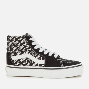 Vans Kids' Logo Repeat Sk8-Hi Trainers - Black/True White