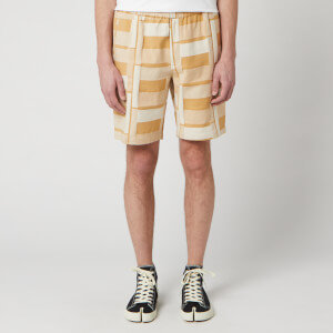 Folk Men's Drawcord Assembly Shorts - Marigold Jacquard