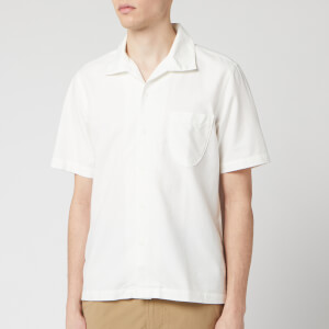Universal Works Men's Open Collar Oxford Polo Shirt - Ecru