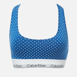 Calvin Klein Women's Unlined Bralette - Pure Dot Blue