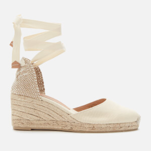 Castañer Women's Carina Wedged Espadrille Sandals - Ivory