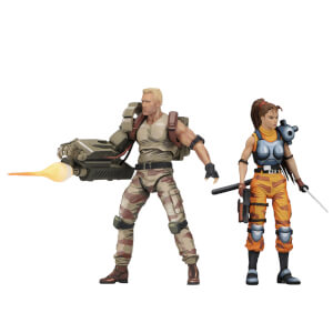 "NECA Alien vs Predator - 7"" Scale Action Figure - Dutch & Lin Arcade (2 Pack)"