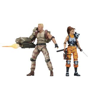 "NECA Alien vs Predator - 7"" Scale Action Figure -Dutch & Lin Arcade (2 Pack)"