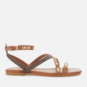 MICHAEL MICHAEL KORS Women's Tasha Flat Sandals - Luggage/Brown