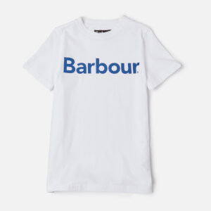 Barbour Boys' Logo T-Shirt - White/Blue