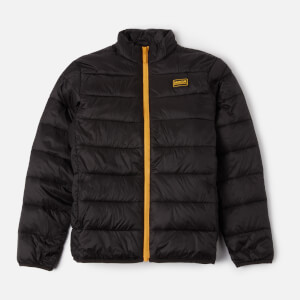 Barbour International Boys' Reed Quilted Jacket - Black/Yellow