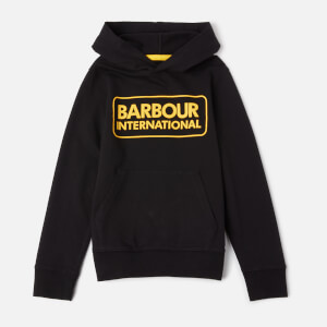 Barbour Boys' Large Logo Hoodie - Black