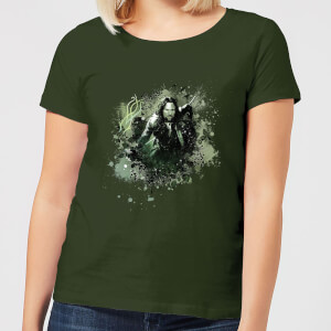 The Lord Of The Rings Aragorn Colour Splash Women's T-Shirt - Forest Green