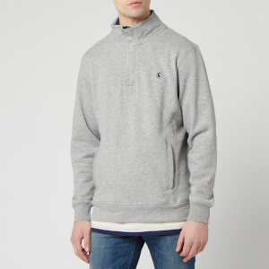 Joules Men's Deckside Half-Zip Sweatshirt - Grey Marl