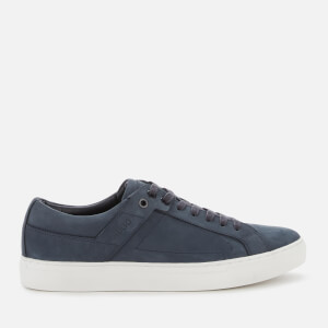 HUGO Men's Futurism Tenn Leather Cupsole Trainers - Dark Blue
