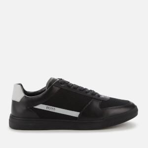 BOSS Hugo Boss Men's Cosmopool Tenn Leather/Knit Trainers - Black