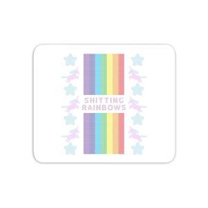 Shitting Rainbows Mouse Mat