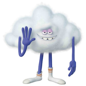 Trolls World Tour Cloud Guy Mini Sized Cardboard Cut Out