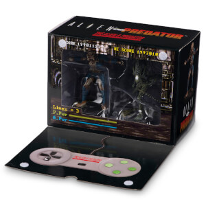 Eaglemoss Alien v Predator Video Game Figurine 2-Pack Set - SNES Video Game Paint Variant
