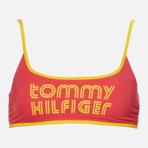 Tommy Hilfiger Women's Bralette Bikini Top - Laser Pink