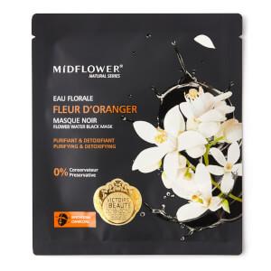 Midflower Masque noir Binchotan à l'Eau Florale de Fleur d'Oranger