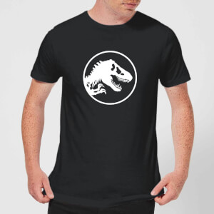 Jurassic Park Circle Logo Men's T-Shirt - Black