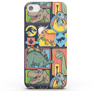 Funda Móvil Jurassic Park Cute Dino Pattern para iPhone y Android