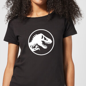 Jurassic Park Circle Logo Women's T-Shirt - Black