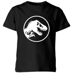 Jurassic Park Circle Logo Kids' T-Shirt - Black