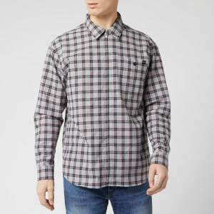 Edwin Men's Wilson Zip Through Shirt - Silver Cloud/Cantaloupe