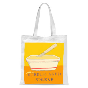 Poet and Painter Middle Aged Spread Tote Bag - White