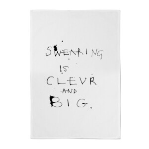 Poet and Painter Swearing Is Tea Towel