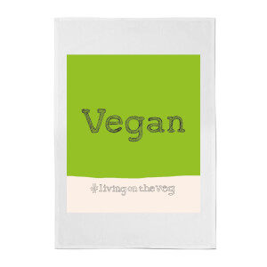 Poet and Painter Vegan Living On The Veg Cotton Tea Towel