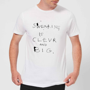 Poet and Painter Swearing Is Men's T-Shirt - White