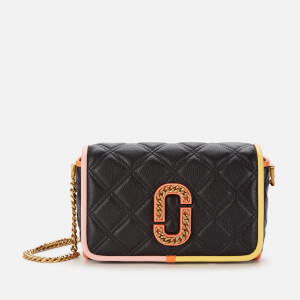 Marc Jacobs Women's The Status Flap Colour Block Bag - Black