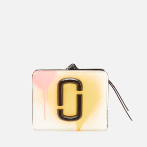 Marc Jacobs Women's Mini Compact Wallet - White Multi