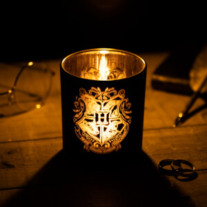 Hogwarts Glass Candle Holder & Battery Tealight