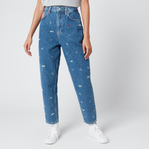 Tommy Jeans Women's Mom Jeans - Star Critter Blue Rigid