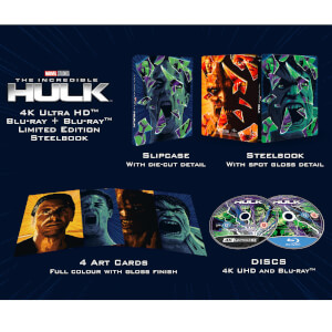 L'Incredibile Hulk (2008) - Steelbook 4K Ultra HD (Include Blu-Ray 2D) - Esclusiva Zavvi