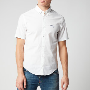 BOSS Men's Biadia R Short Sleeve Shirt - White
